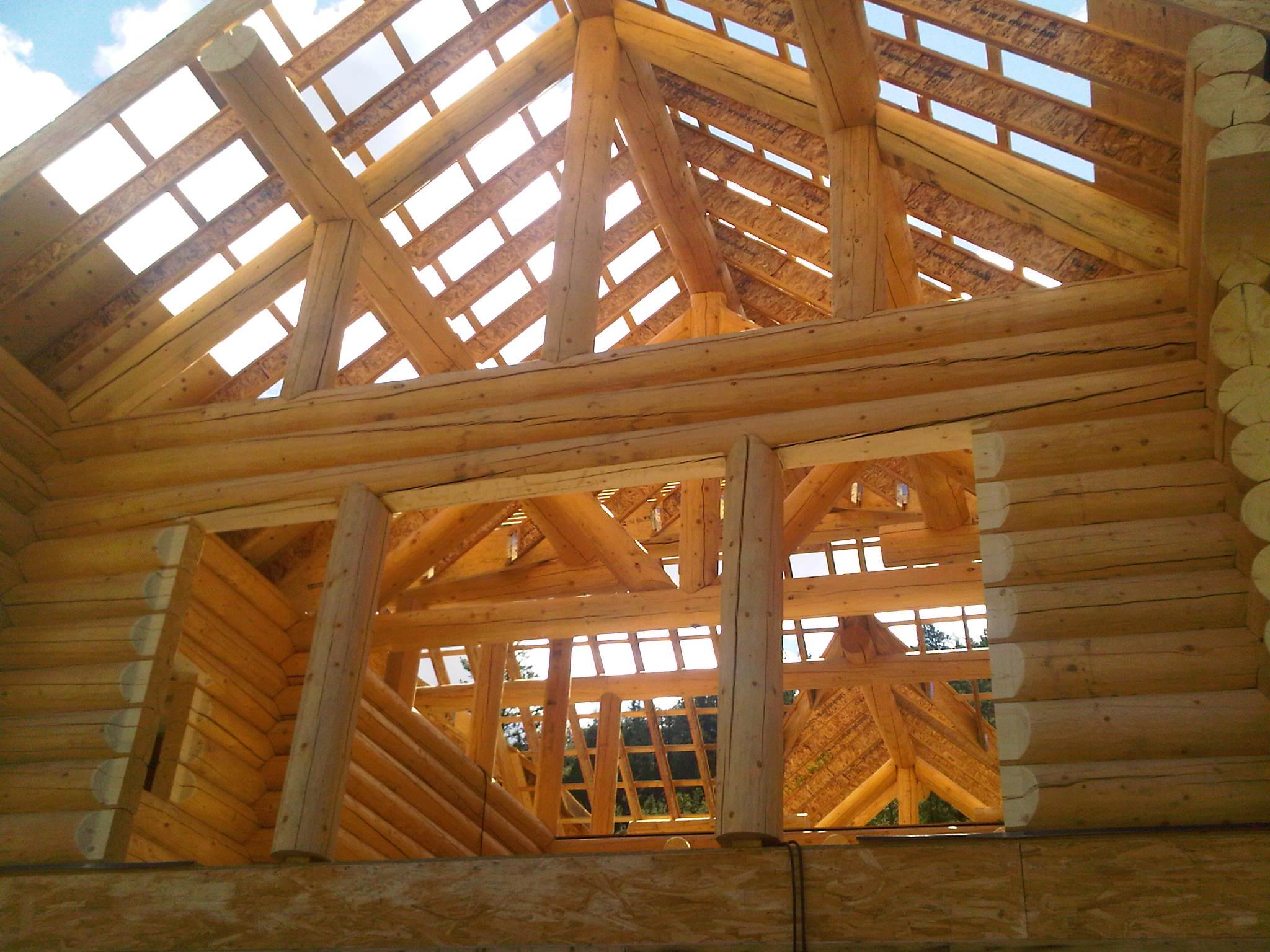 Log roof system